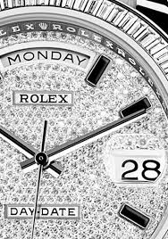 Diamonds Paved Dial Rolex Oyster Perpetual Day-Date II Replica Watch