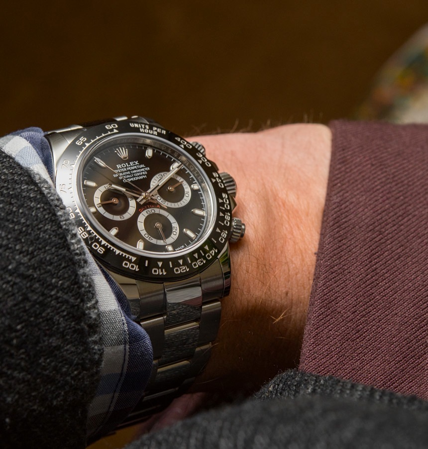 New Rolex Daytona Gold Face Replica Cosmograph Daytona Watch With Black Ceramic Bezel & Updated Movement Hands-On Hands-On