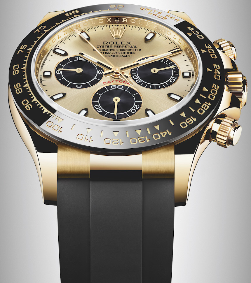 New Rolex Cosmograph Daytona Watches In Gold With Oysterflex Rubber Strap & Ceramic Bezel For 2017 Watch Releases