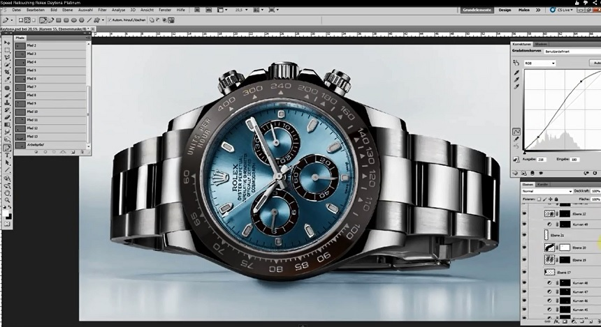 How Professional Photographers Retouch Watch Pictures: Rolex Daytona Feature Articles