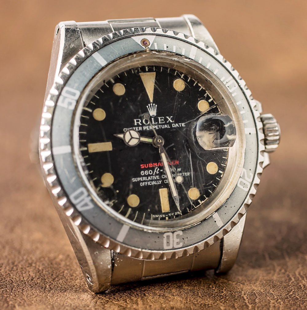 A Vintage Rolex 'Red Submariner' Watch With An Actual History Of Military Service Hands-On