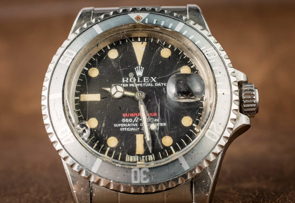 A Vintage M Series Rolex Submariner Replica 'Red Submariner' Watch With An Actual History Of Military Service Hands-On