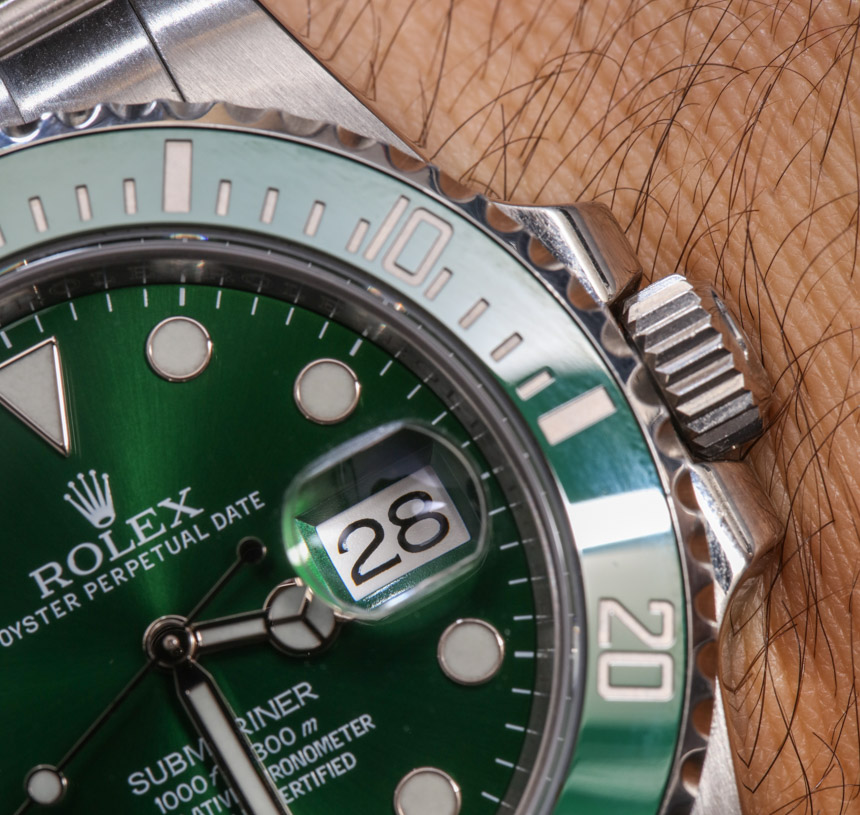 Rolex Submariner 116610LV In Green Watch Review Wrist Time Reviews