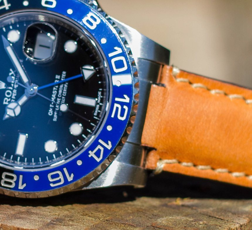 Everest Leather Straps For Rolex Gmt Master Ii Azul Y Negro Replica Watches Preview Hands-On