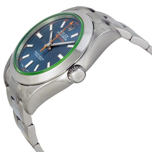 Rolex Milgauss Automatic Blue Dial Stainless Steel Men's Watch 116400GV