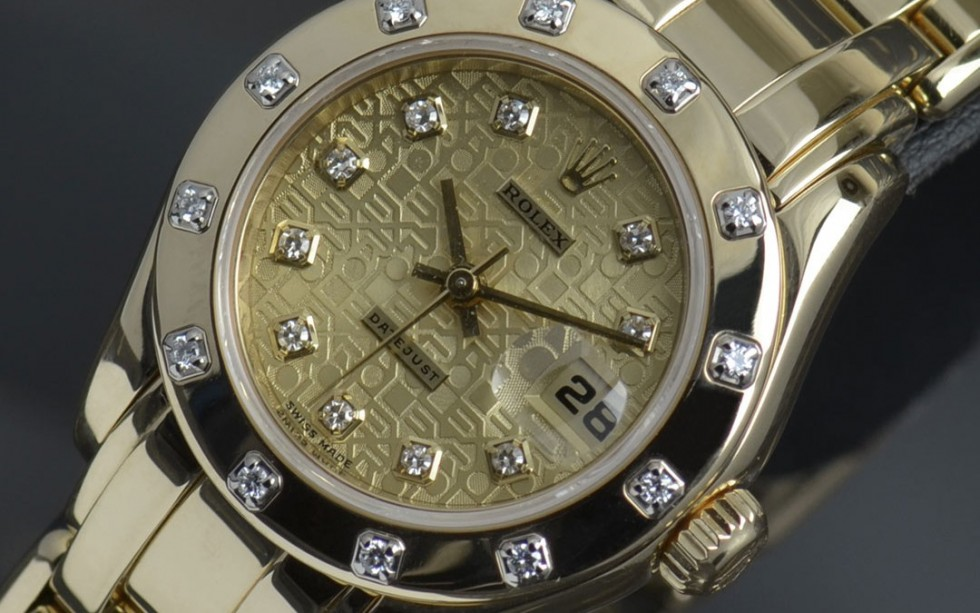 18ct Pearl-Master Rolex Watch