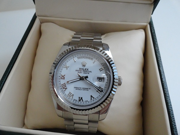 rolex day date president white gold