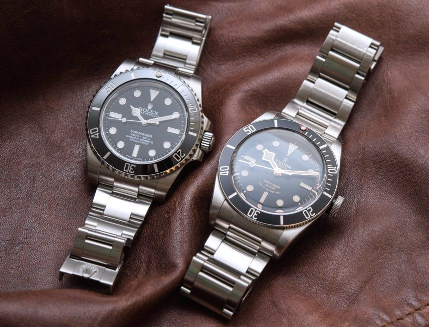 Rolex Submariner 114060 'No Date' Vs. Tudor Heritage Black Bay Black Comparison Watch Review Wrist Time Reviews