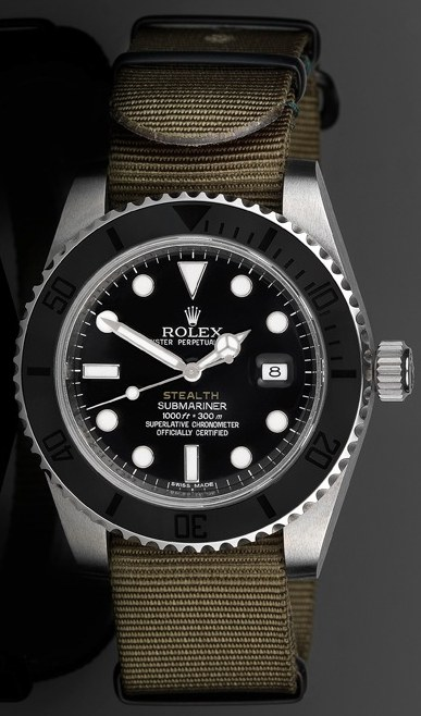 "Project X Designs ""Stealth"" Customized Rolex Submariner Watch Watch Releases"