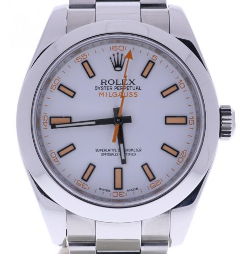 Pre-owned Rolex Milgauss Automatic Chronometer White Dial Men's Watch 116400 WSO