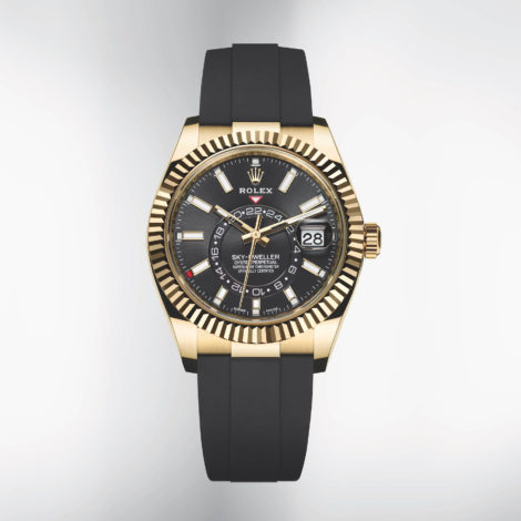 Sky-Dweller Fake watches on a Rolex Oysterflex bracelet